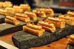 Mouillette au foie gras et purée de dattes