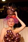 Création pour le défilé de mode chocolaté
