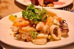 Salade de calmars et pieuvre.