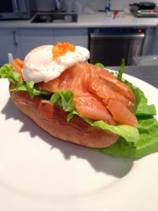 Oeuf poché et saumon